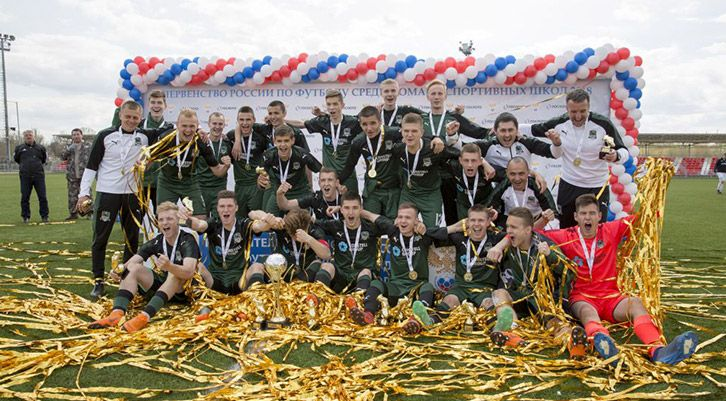 The Russian football championship among young men has finished with a victory of Krasnodar team