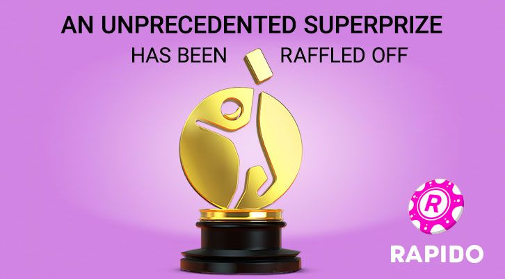 An unprecedented superprize in the history of the Rapido Lottery has been raffled off